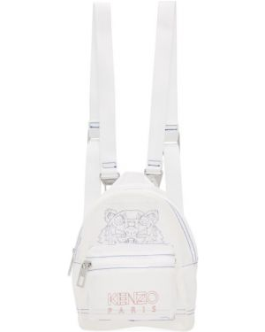 Рюкзак белый на молнии Kenzo
