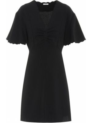 Платье с декольте - черное Miu Miu