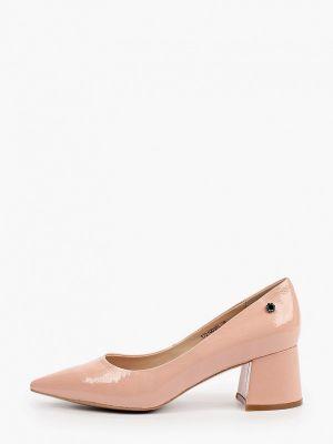Лаковые кожаные розовые туфли Tuffoni
