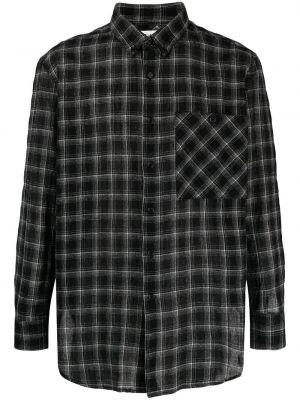 Flanelowa koszula - czarna Saint Laurent