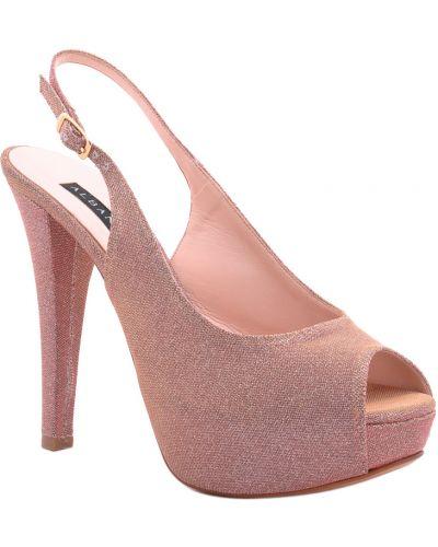 Кожаные босоножки - розовые Albano