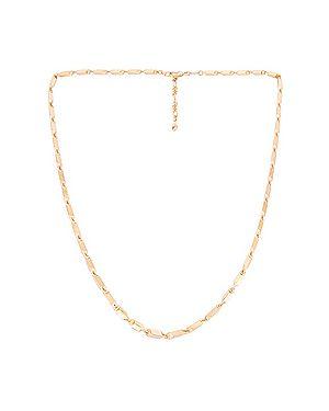 Ожерелье металлическое золотое Rebecca Minkoff