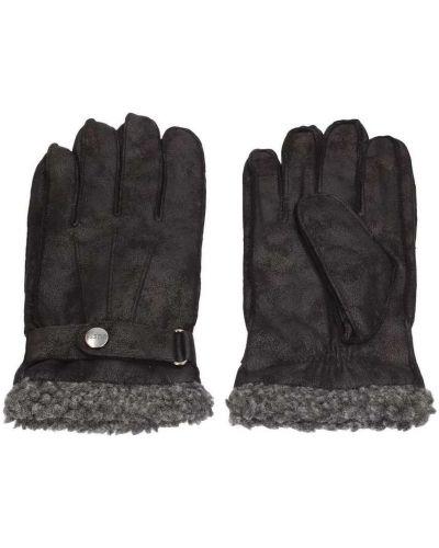 Czarne rękawiczki Guess