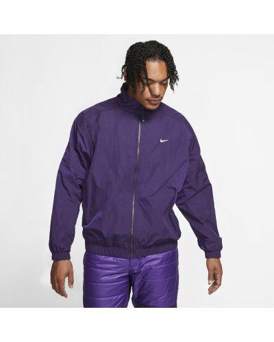 Fioletowa bluza dresowa materiałowa Nike