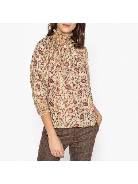 Шелковая блузка - бежевая Soeur