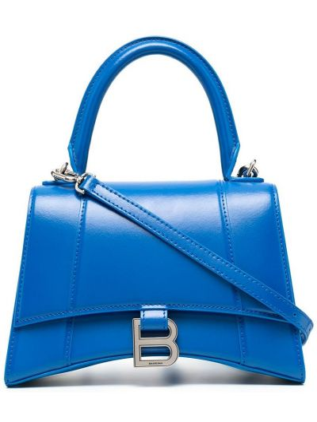 Синяя кожаная сумка-тоут Balenciaga