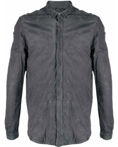 Koszula z długimi rękawami skórzana zapinane na guziki Giorgio Brato