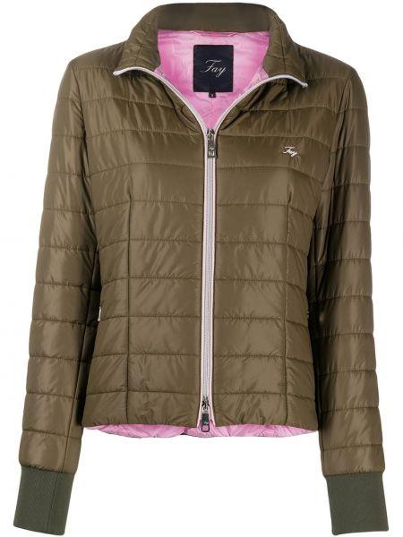 Куртка с вышивкой зеленая Fay