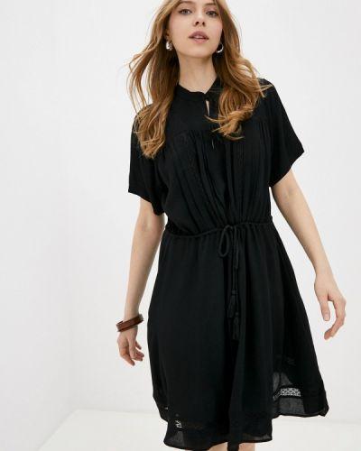 Прямое черное платье А-силуэта Ichi
