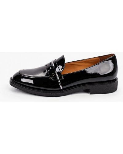 Лаковые кожаные черные лоферы Graciana