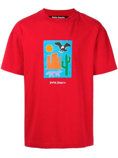 Bawełna bawełna prosto koszula z krótkim rękawem krótkie rękawy Palm Angels