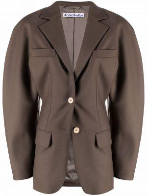 Коричневый пиджак длинный Acne Studios