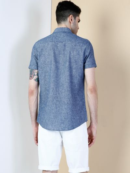 Синяя рубашка с короткими рукавами Colin's