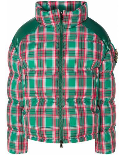Утепленная куртка стеганая в клетку Moncler