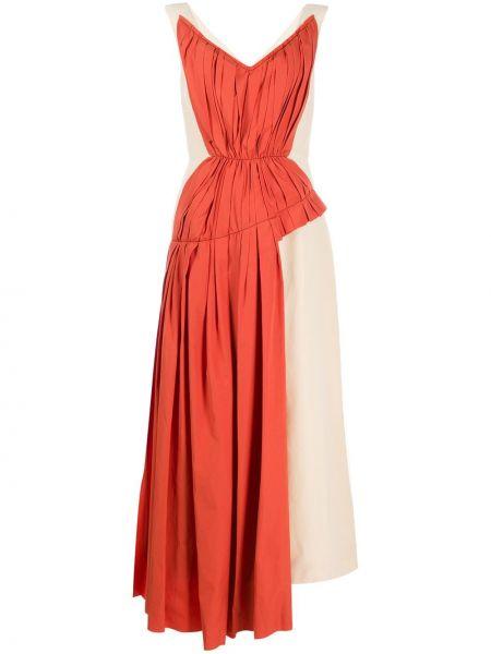 Платье миди с V-образным вырезом на молнии Marni