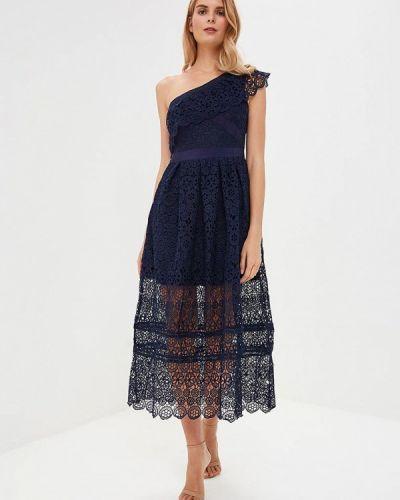 Вечернее платье весеннее синее Danity