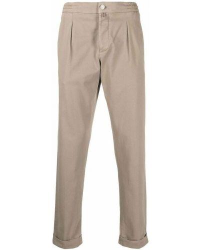 Beżowe spodnie Kiton