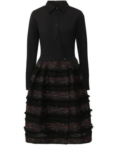 Платье с бахромой приталенное Sara Roka