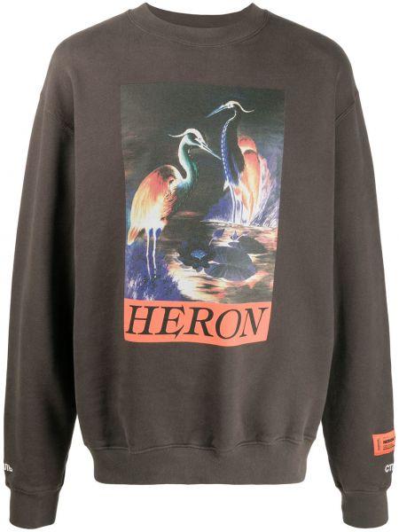 Bawełna bawełna pomarańczowy bluza z długimi rękawami Heron Preston