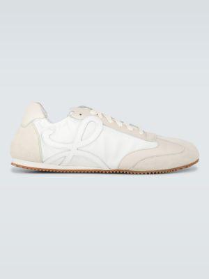 Beżowe sneakersy skorzane Loewe