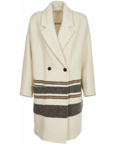 Biały płaszcz Pomandere