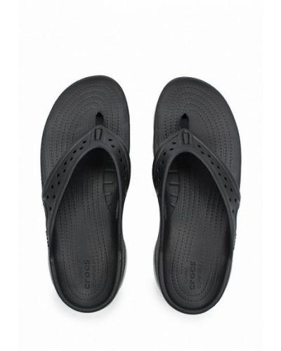 Черные сланцы Crocs