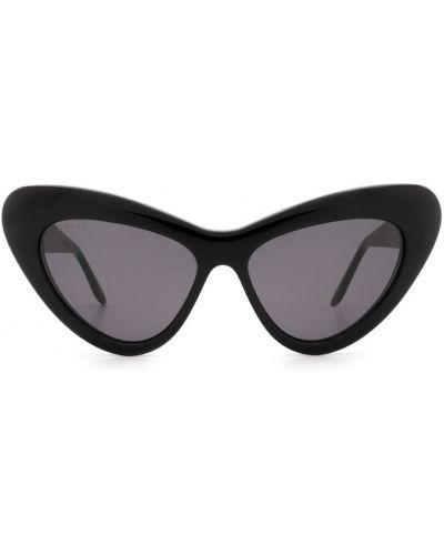 Okulary z printem - czarne Gucci