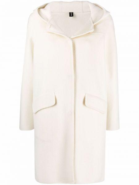 Белое пальто с капюшоном PaltÒ