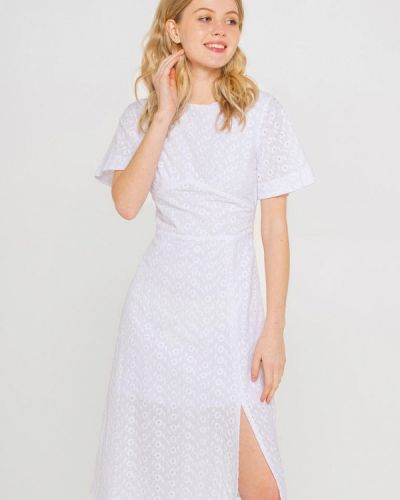 Прямое белое платье А-силуэта Shtoyko
