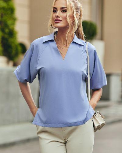 Голубая блузка однотонная Dressa