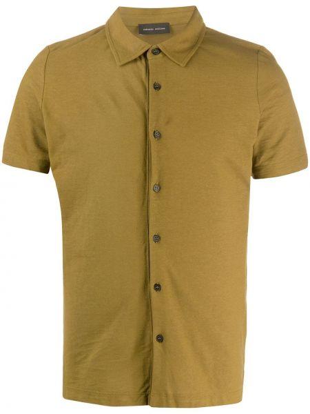 Koszula krótkie z krótkim rękawem klasyczna wojskowy Roberto Collina