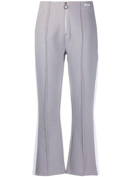 Спортивные брюки укороченные с завышенной талией Fila