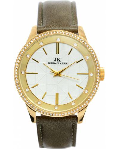 Klasyczny zielony złoty zegarek Jordan Kerr