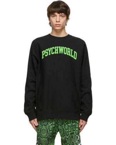 Czarna bluza z długimi rękawami bawełniana Psychworld