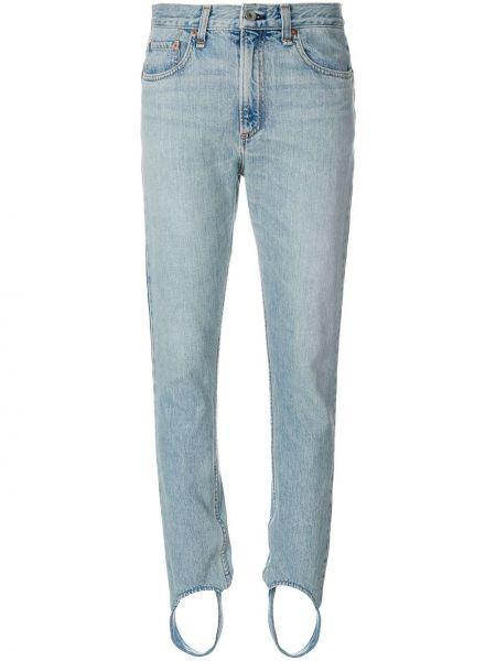 Хлопковые джинсы - синие Rag & Bone/jean