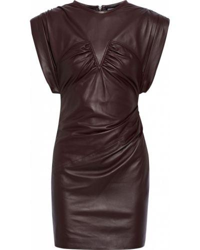 Кожаное платье мини Iro