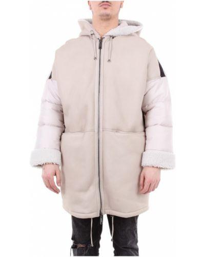 Długi płaszcz z kapturem skórzany Giorgio Brato
