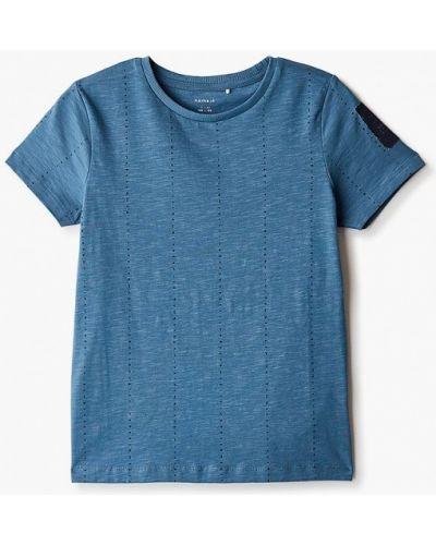 Синяя с рукавами футболка Name It