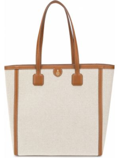 Коричневая сумка-тоут на молнии с декоративной отделкой с карманами Mark Cross