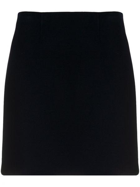 Акриловая вязаная черная с завышенной талией юбка миди Paule Ka