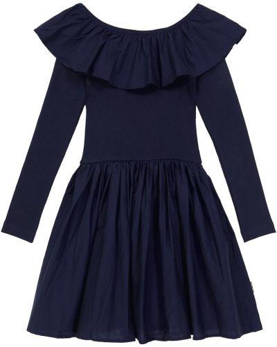 Коричневое платье макси с длинными рукавами Molo