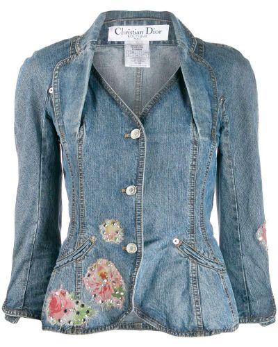 Синяя джинсовая куртка на пуговицах Christian Dior Pre-owned