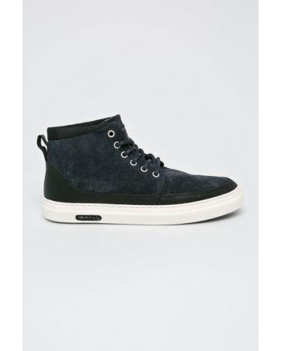 Кожаные кроссовки текстильные на шнуровке Gant