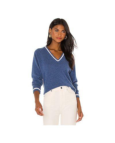 Кашемировый синий свитер Michael Lauren