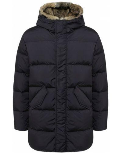 Куртка с капюшоном на молнии синяя Lempelius