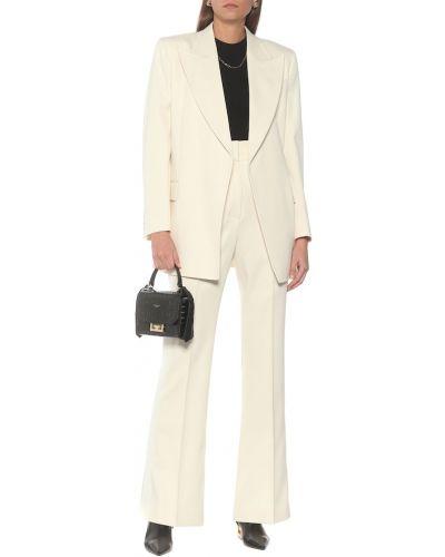 Prosto wełniany biały spodnie o prostym kroju Givenchy