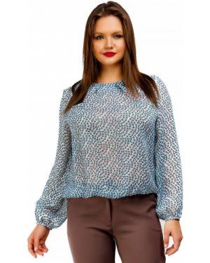 Блузка на резинке с цветочным принтом Liza Fashion