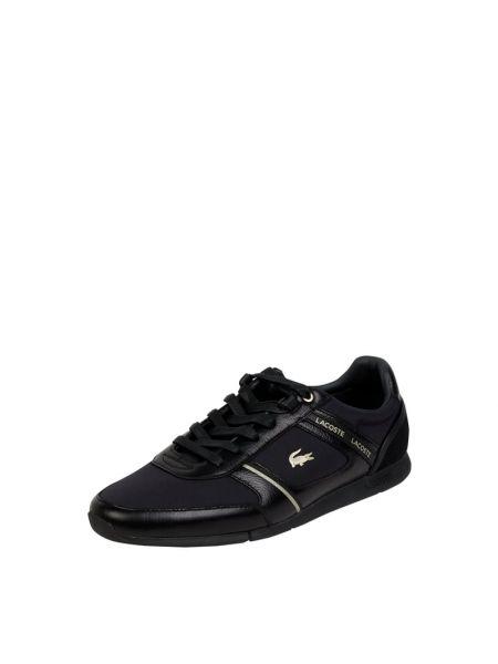 Czarne sneakersy skorzane Lacoste
