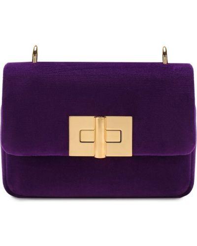 Фиолетовая кожаный сумка Tom Ford