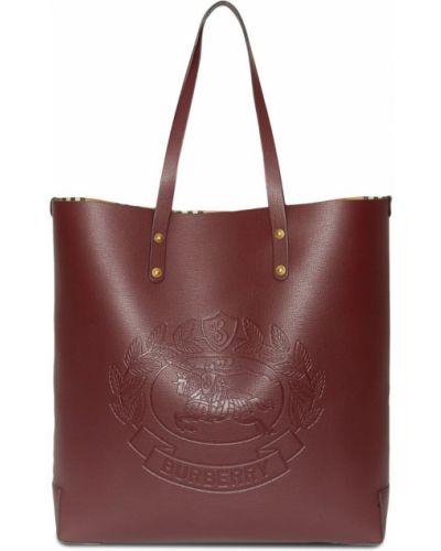 Сумка-тоут с логотипом бордовый Burberry